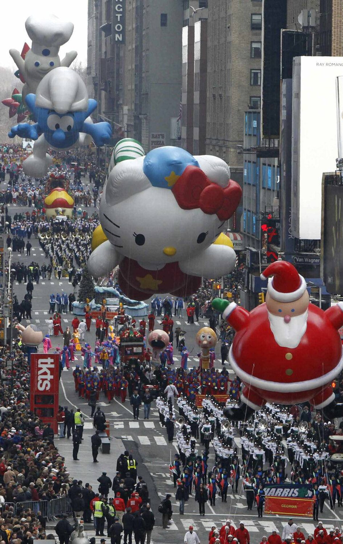 So Santa, Hello Kitty and a Smurf walk into a bar ... Year: 2009