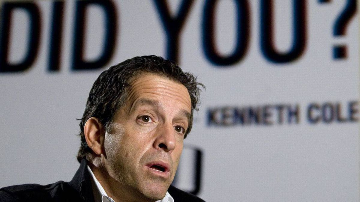 Fashion designer Kenneth Cole is seen during an interview in Toronto Thursday, Oct.18, 2007.