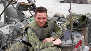 In this submitted photo, Cpl. Stuart Langridge is shown in Afghanistan. A military hearing was held Thursday into his suicide by hanging in 2008.