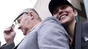 Randy Quaid and his wife Evi in Vancouver in February.