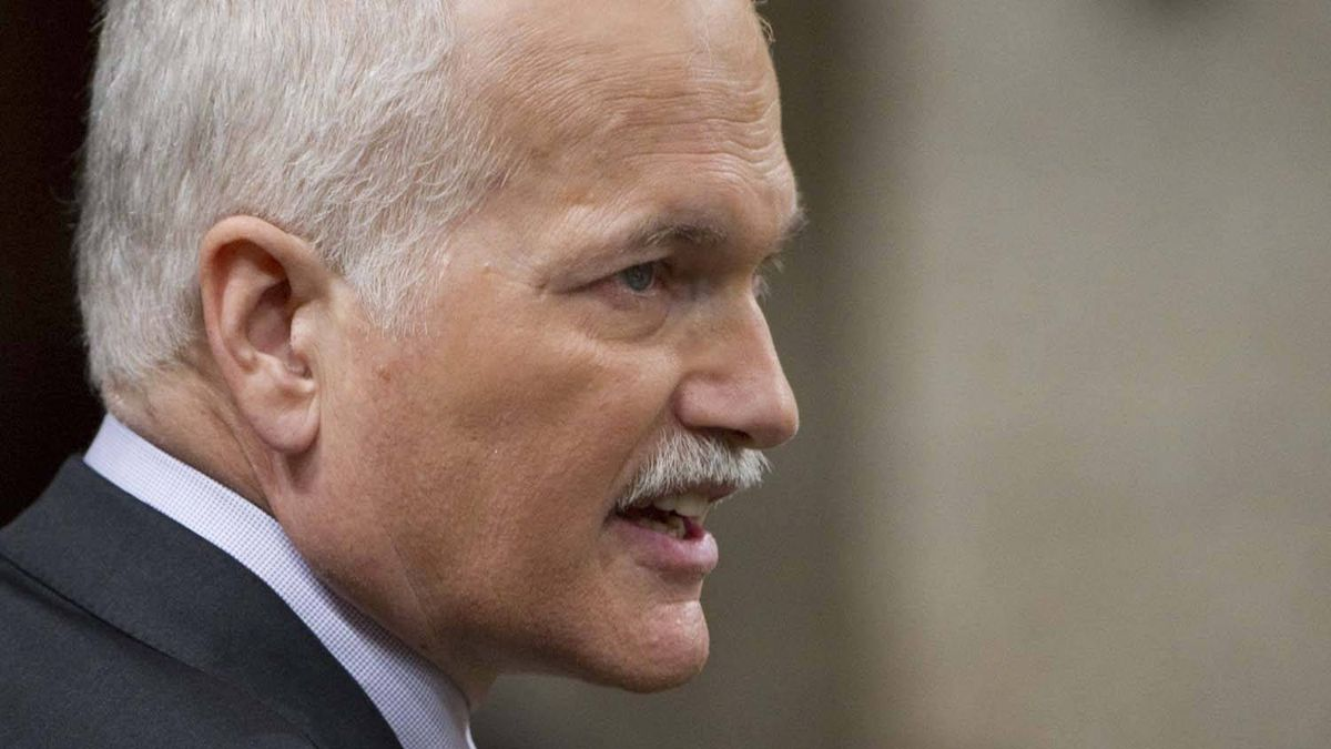 NDP Leader Jack Layton asks a question during question period in the House of Commons on Parliament Hill in Ottawa Tuesday Feb. 15, 2011.
