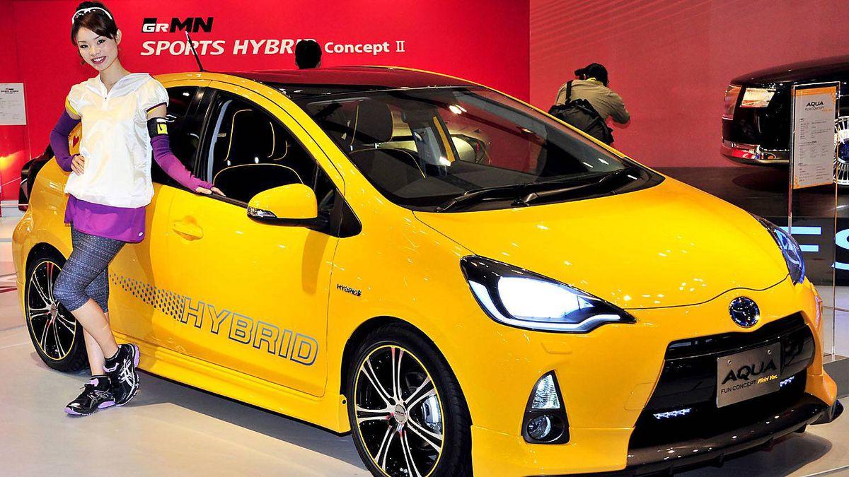 Toyota Aqua compact hybrid vehicle