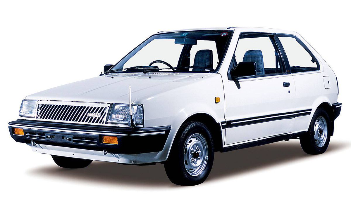 The first generation of Nissan's March was introduced in 1982. The popular car received its first design modifications for the 1985 year (pictured).