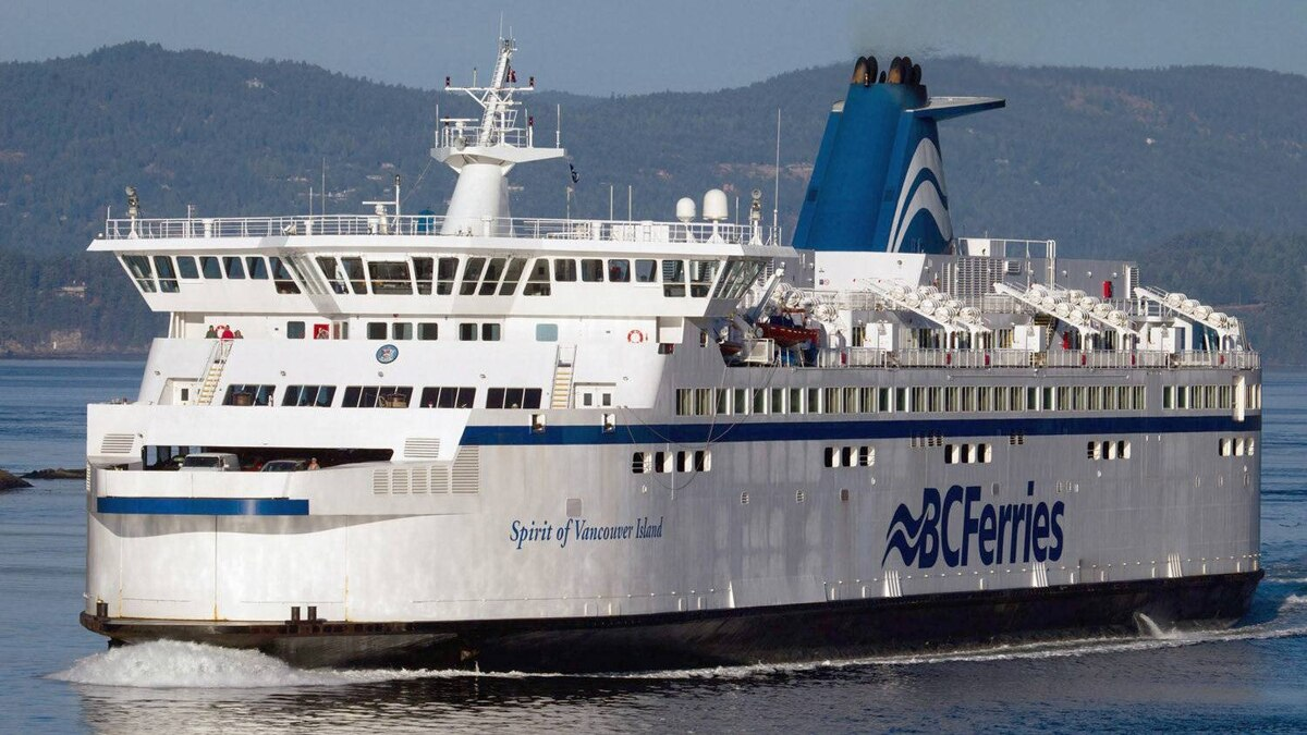 BC Ferries vessel Spirit of Vancouver Island passes between Galiano Island and Mayne Island while traveling from Swartz Bay to Tsawwassen, B.C., on Friday August 26, 2011.