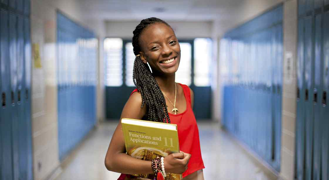 "Davia Jackson, 17, at Weston Collegiate School in Toronto Wednesday.Her family had moved during her Grade 11 year and she didn't want to spend her Grade 12 year at a new high school. ""I would have wasted my time, I would have skipped,"" she said."
