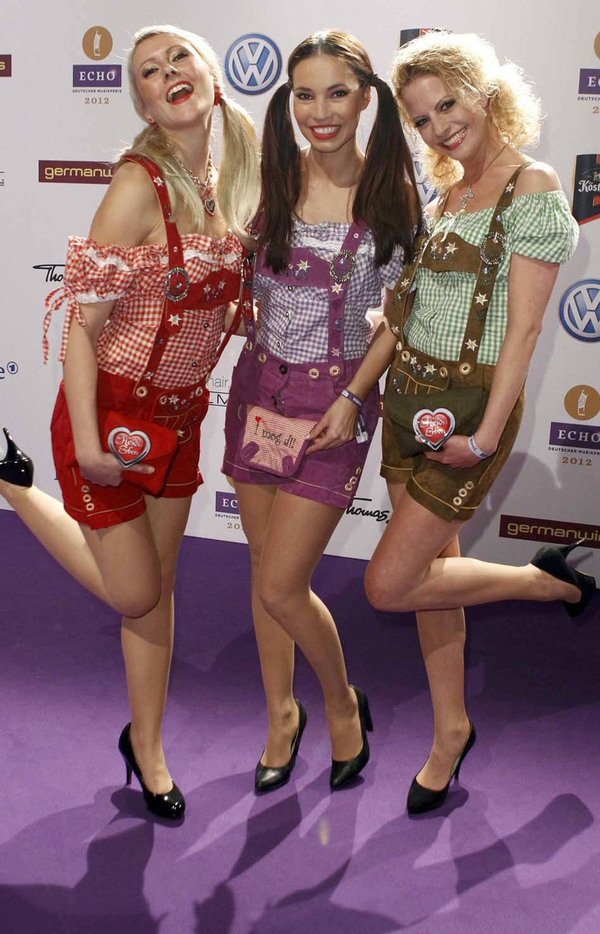 And welcome to Germany's annual Echo Music Awards in Berlin last week, folks. This is the German pop trio Heidi Erbens. You can tell they're German because two out three of them are blond.