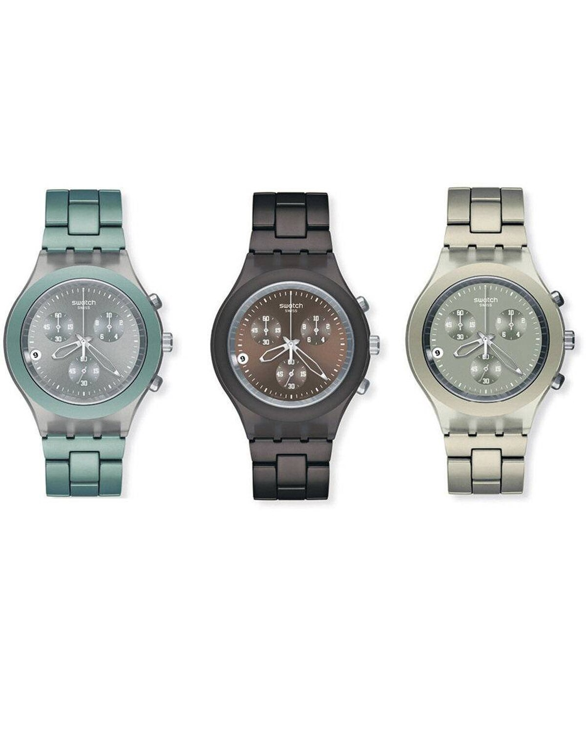 Time flies when you're a dad: Make sure yours is ahead of his sked with a fashion-forward timepiece with (discreetly) coloured band and dial. Full-Blooded watches by Swatch in, from top to bottom, Mint, Smoky Brown and Smoky Grey, $185 at Swatch boutiques across Canada (www.swatch.com).