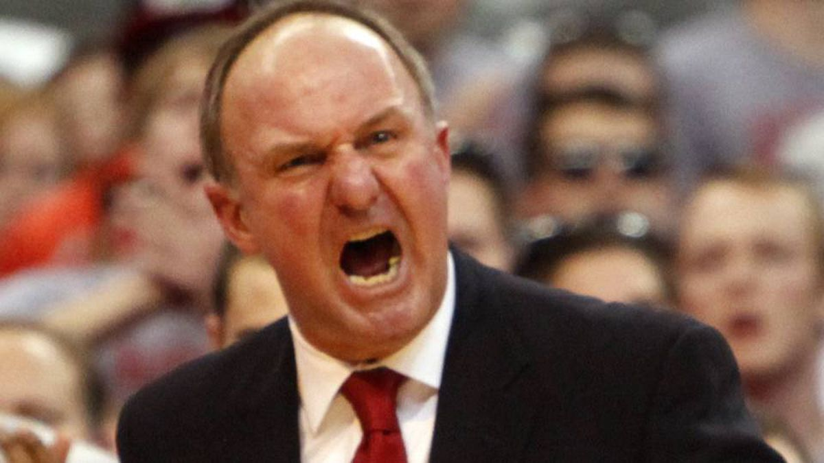 Ohio State coach Thad Matta yells at his players during the second half of an NCAA college basketball game against Purdue, Tuesday, Feb. 7, 2012, in Columbus, Ohio.