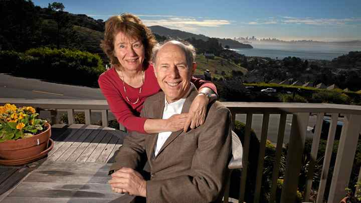 Psychologists Arthur and Elaine Aron relax at home on Feb. 7, 2011 in Tiburon, California.