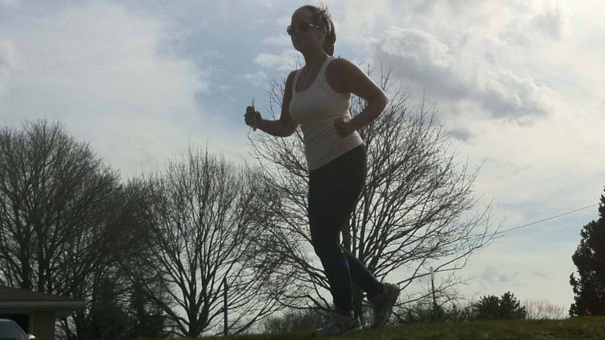Amberly McAteer runs in St Thomas, Ontario on Easter weekend. She's read every piece of reader advice -the positive, the practical and the pushy - over the last 10 weeks.