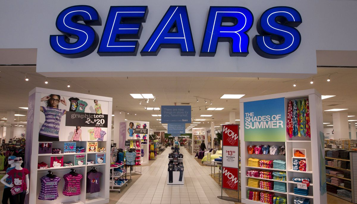 A Sears Canada store at Upper Canada Mall in Newmarket, Ont. The retailer plans to give a soon-to-be-named advertising agency the mandate to consider replacing Sears' blue and white logo with a less conservative look.