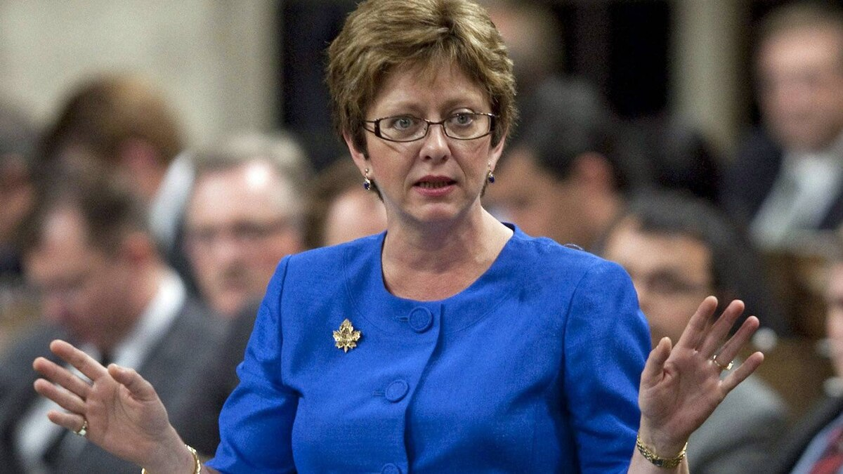 Human Resources Minister Diane Finley speaks during Question Period in the House of Commons on Sept. 21, 2011.