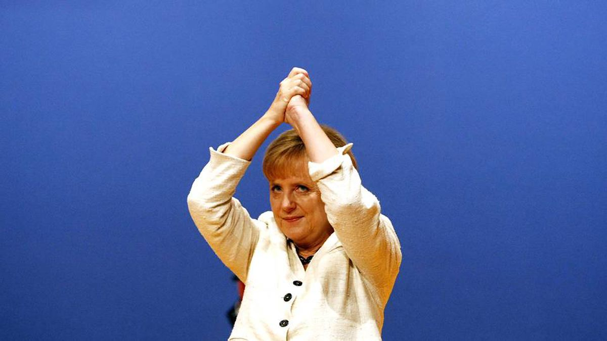 German Chancellor and leader of the Christian Democratic Union party (CDU) Angela Merkel.