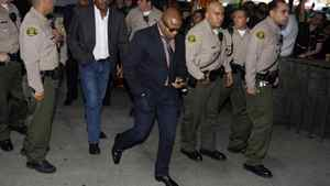 Randy Jackson, Michael Jackson's brother, arrives for the reading of the verdict in Dr. Conrad Murray's trial on Monday.