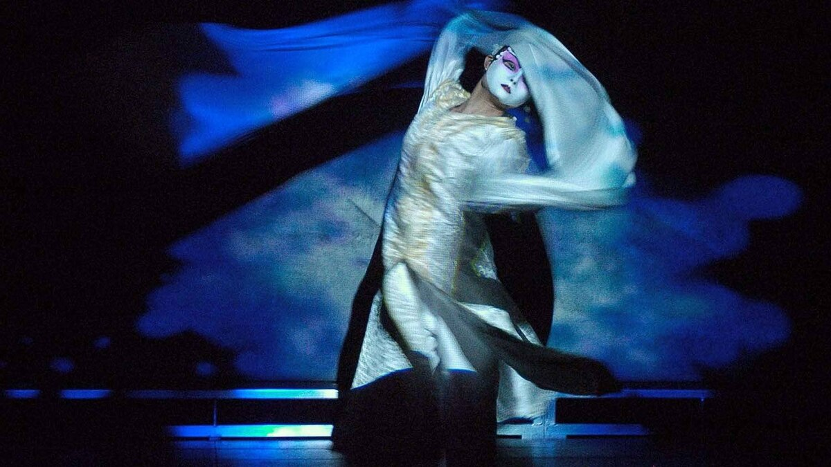 """A scene from Robert Lepage's """"The Blue Dragon"""""""