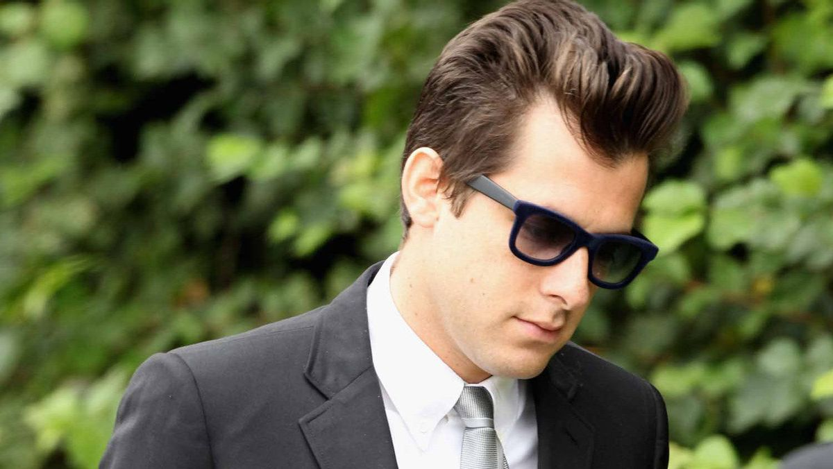 Producer Mark Ronson attends the funeral service of singer Amy Winehouse at Edgwarebury Lane cemetery on July 26, 2011 in London, England.
