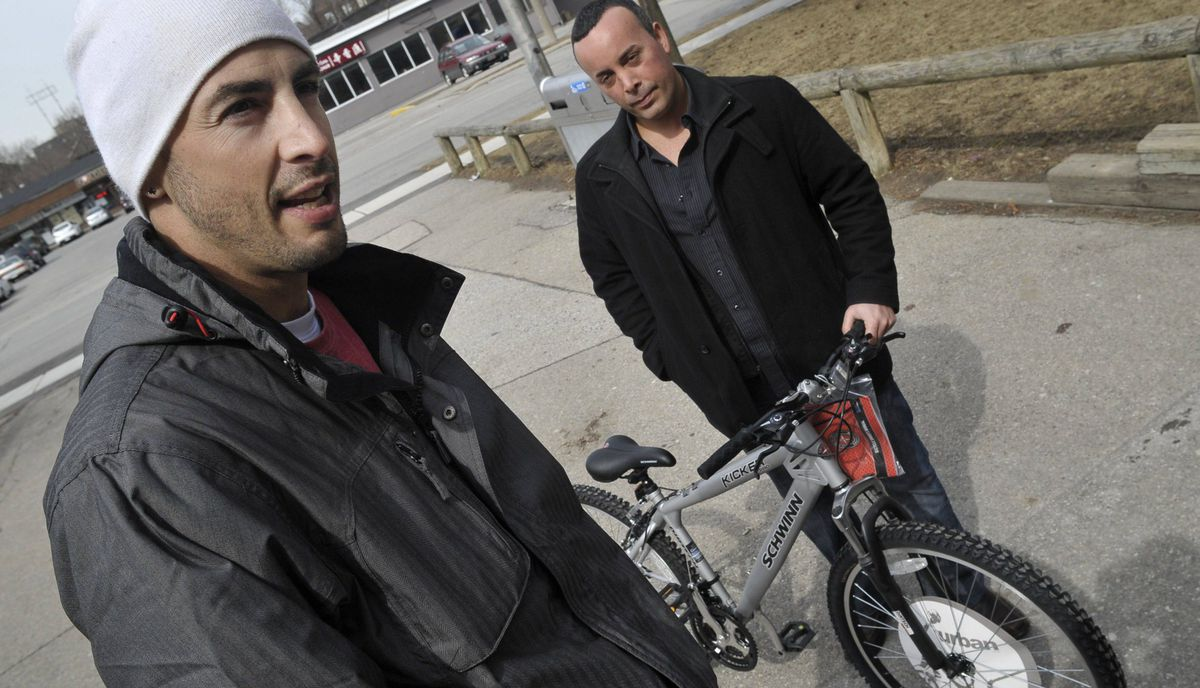 Stavros Theodorakopoulos bought a bike to replace the one he stole from his childhood friend Joshua Stern. The two are now are running an anti-bullying program over March Break for kids who have been in trouble with police.