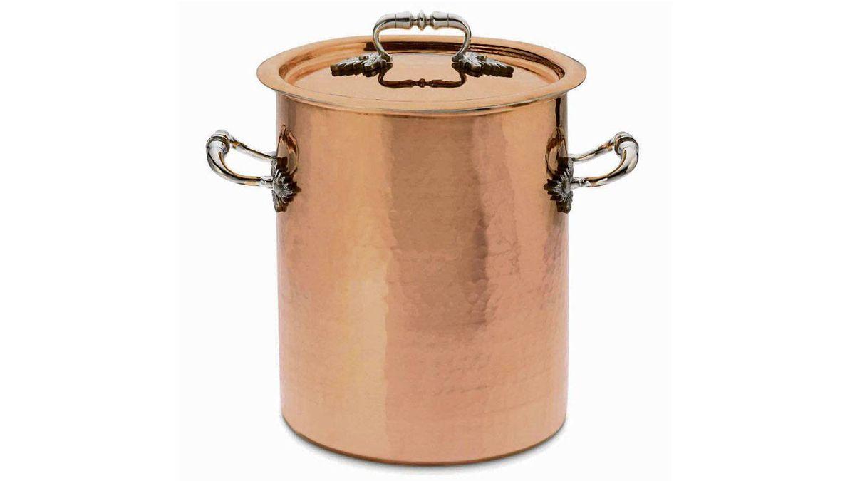 COPPER'S COMEBACK Ruffoni Convivium Hammered Copper Stockpot, $465 at Williams-Sonoma (www.williams-sonoma.ca)