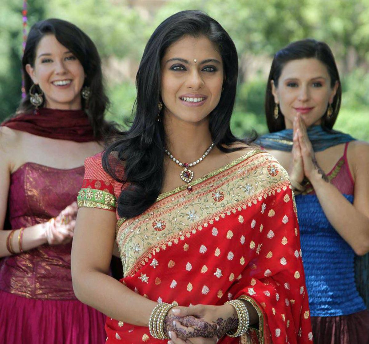 Kajol, middle, in a scene from My Name is Khan.