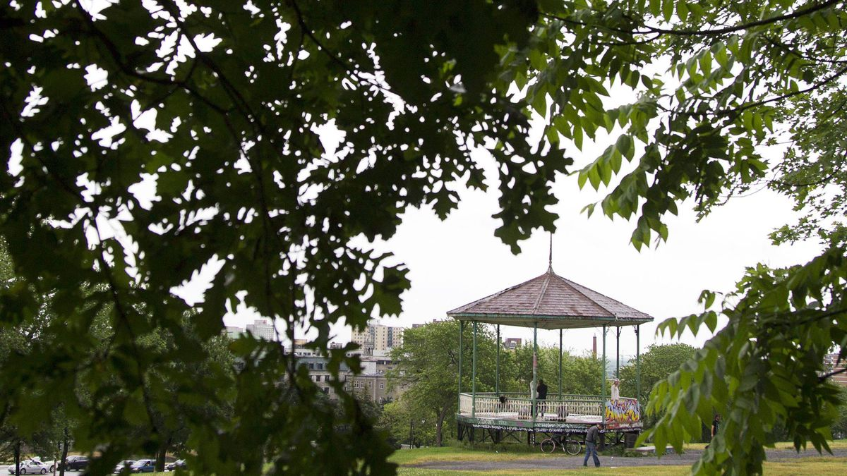 The gazebo in Mont Royal Park to be dedicated to Mordecai Richler on June 23, 2011.