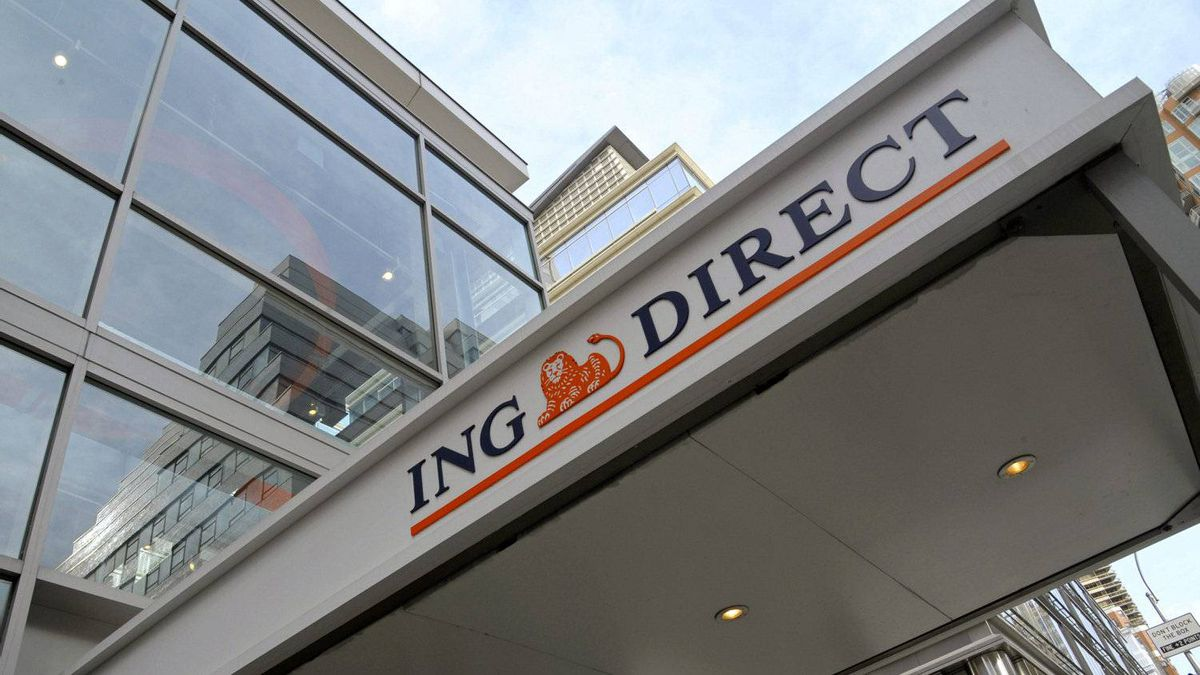 Signage for ING Direct USA, a unit of ING Groep NV, is displayed outside of a branch in New York, U.S., on Wednesday, March 9, 2011.