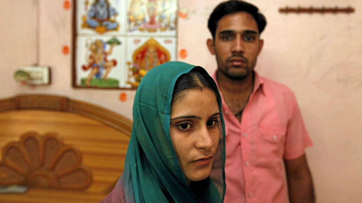 Ravinder Gehlaut and his wife, Shilpa Kadiyan, were forced to flee for their lives after their marriage was deemed sinful by a village council because they belong to the same clan.
