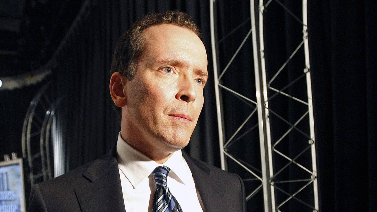 Hugh McFadyen, Manitoba Progressive Conservative Leader, speaks to the media following the televised debate Sept. 23, 2011, in Winnipeg.