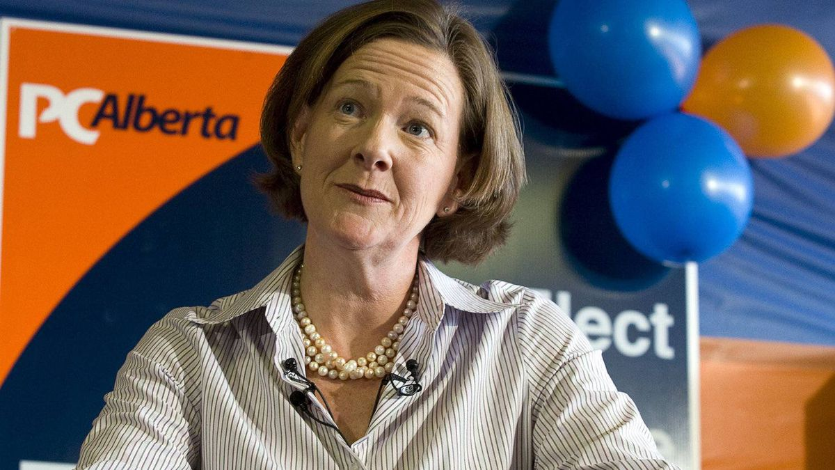 Alberta Premier and PC leader Alison Redford makes a campaign stop in Calgary, Alta., Saturday, March 31, 2012.