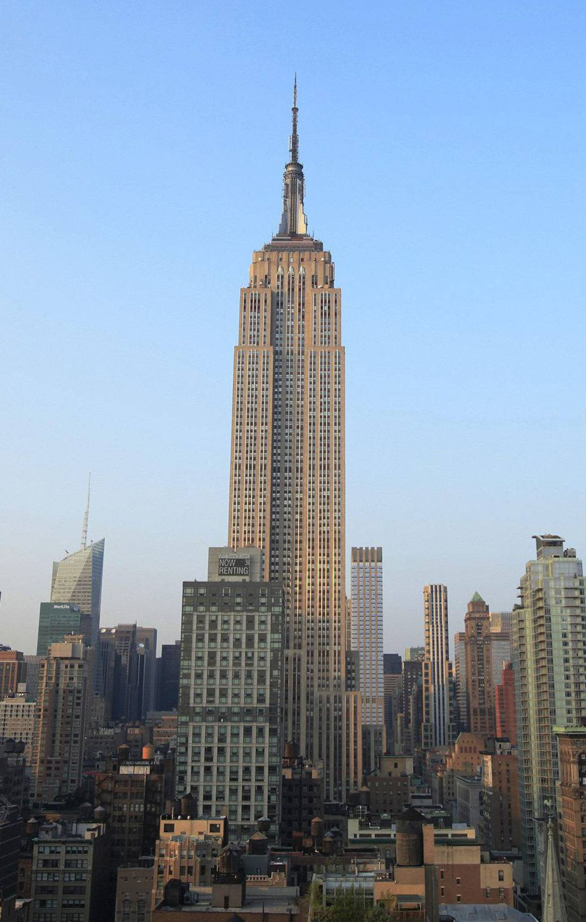 The Empire State Building stands above midtown New York Sept. 1, 2010.