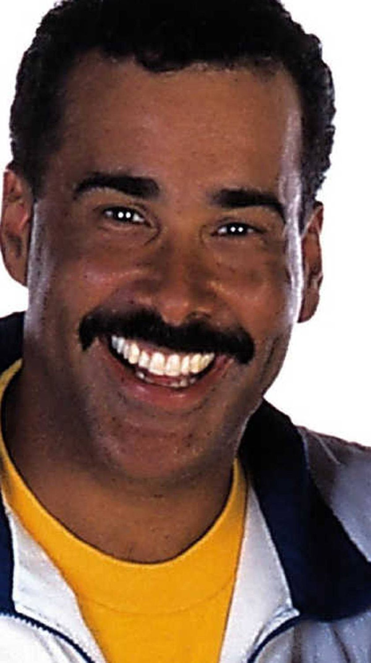 3. HAL JOHNSON What goes better with Hal Johnson than Joanne Mcleod? You guessed it: That moustache. Hal taught us how to eat well and exercise daily, but nothing hit home more than the beautiful marriage of a spandex suit and a perfectly groomed lip worm.