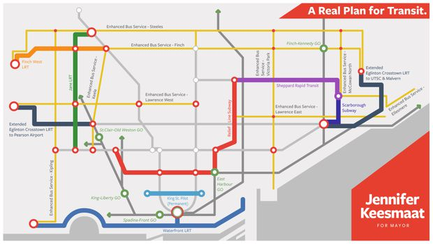 Toronto Subway Map With Streets.Toronto Mayoral Challenger Jennifer Keesmaat S Transit Plan Pitches