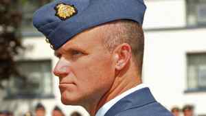 Colonel Russell Williams, shown in July of 2009 as commander of CFB Trenton, faces two concurrent life sentences for first-degree murder.