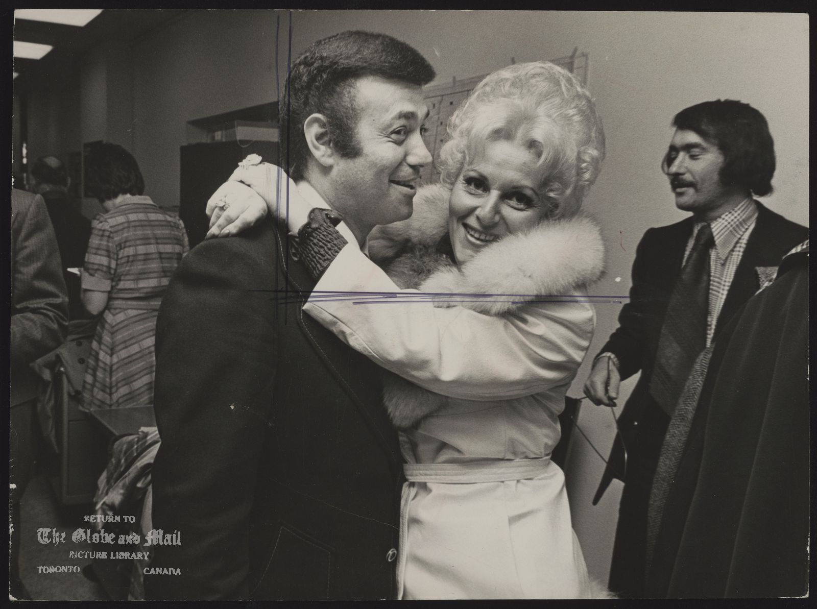 Mel LASTMAN North York. Politician (Mel Lastman, the new mayor of North York, receives a victory hug from his wife, Marilyn.)