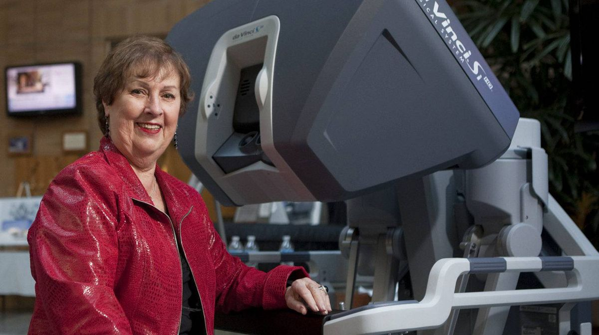 Marie Jose Overweel joined Robert Taberner and his wife, Sheila, to donate a combined $1-million to Credit Valley Hospital for robotic equipment that enables minimally invasive surgery.