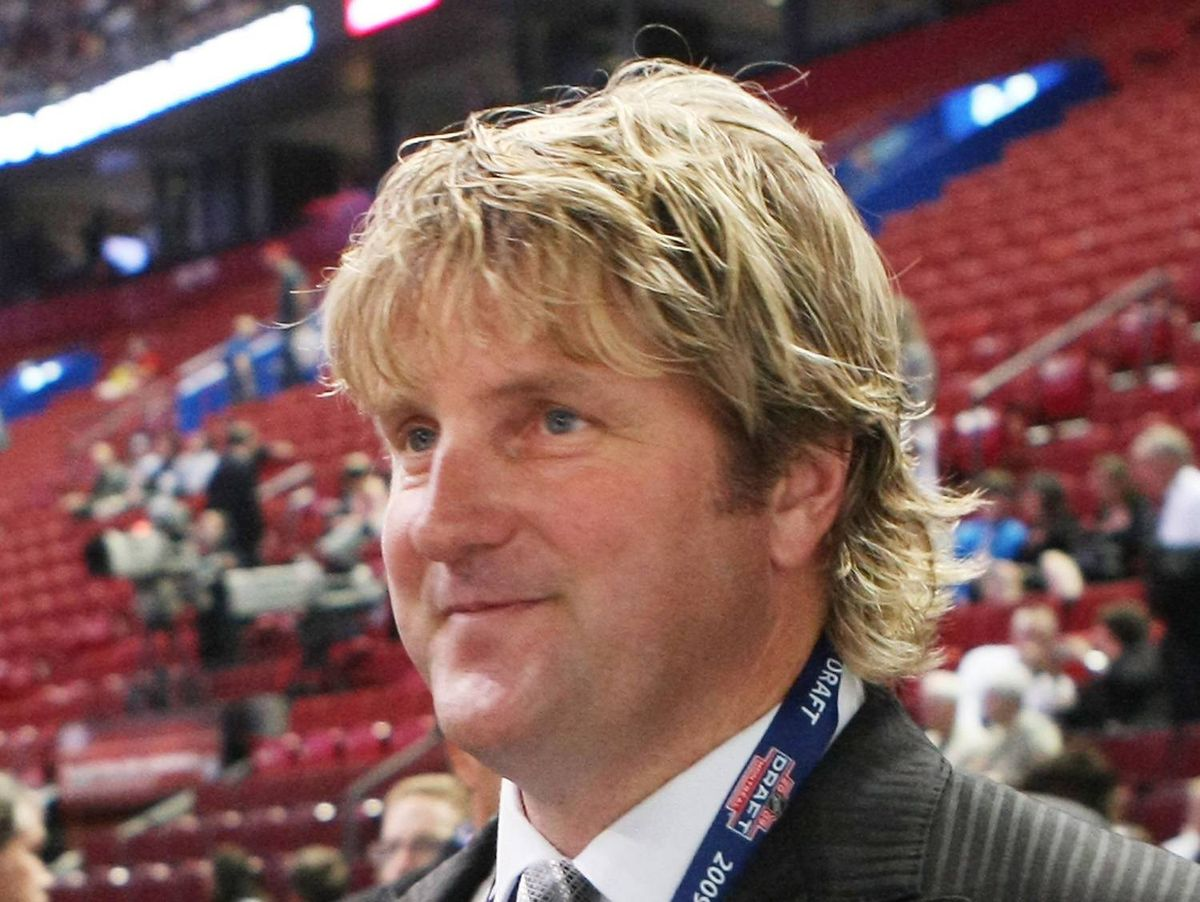 Len Barrie of the Tampa Bay Lightning photographed during the first round of the 2009 NHL Entry Draft at the Bell Centre on June 26, 2009, in Montreal, Quebec, Canada.