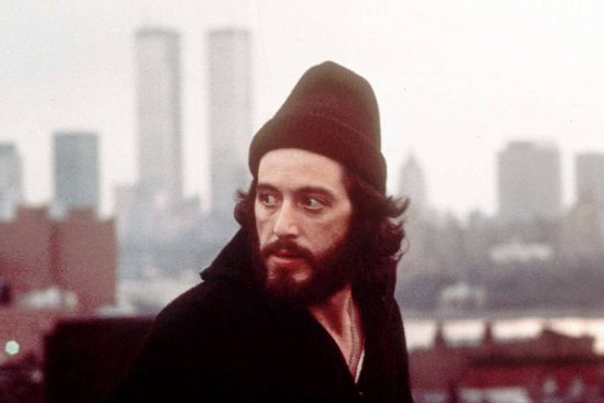 "Al Pacino is seen in the title role of the 1973 film ""Serpico,"" directed by Sidney Lumet."