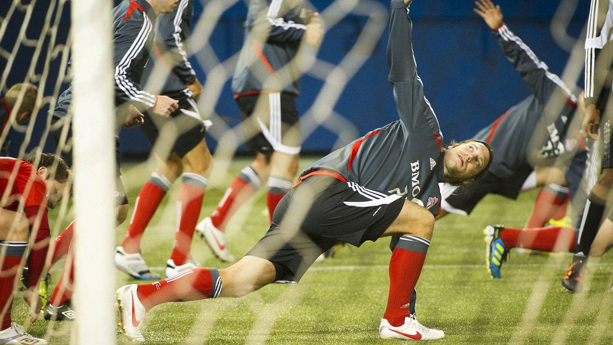 Torsten Frings of the Toronto FC is seen during practice at the Rogers Centre in Toronto, March 6, 2012.