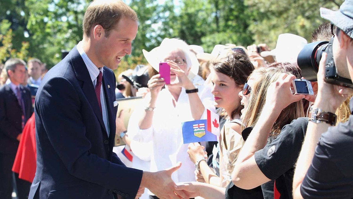 Prince William, Duke of Cambridge attends a reception at Calgary Zoo on July 8, 2011 in Calgary, Canada.