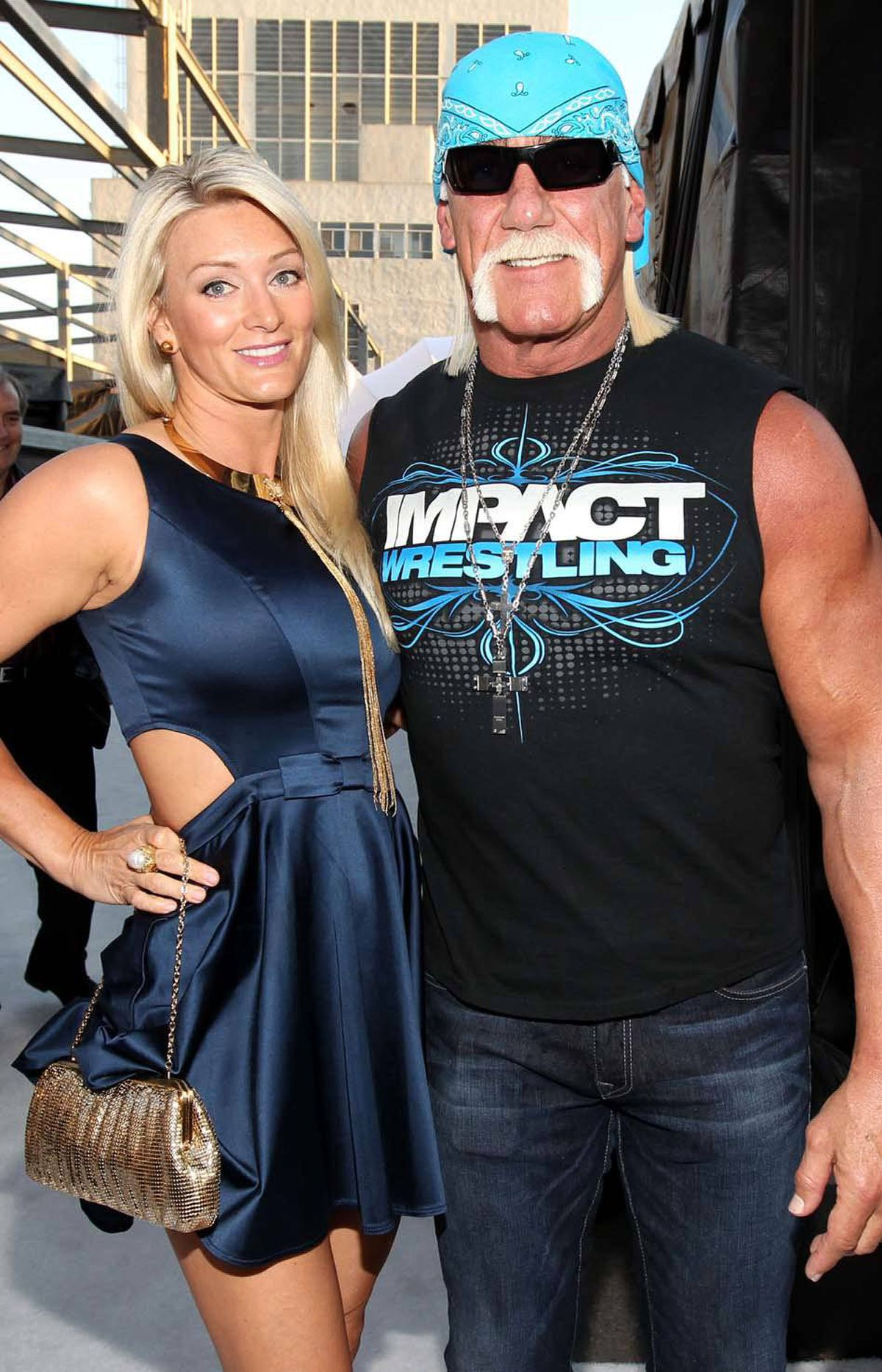 Pro wrestler Hulk Hogan, who is currently suing his ex-wife over allegations in her memoir that he had gay lovers, attends the Spike TV 2011 Video Game Awards in Los Angeles on Saturday with an incredibly hot woman whose presence erases all doubt about the sexual orientation of a man who spends hours in the gym every day and wrestles other men for a living.