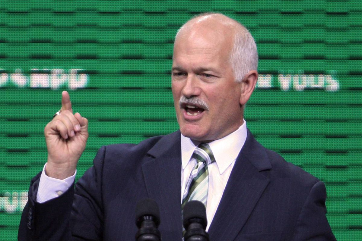 NDP leader, Jack Layton, delivers his keynote speech to conclude the the New Democratic Party National Convention in Halifax, Sunday.