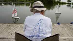Members of the Metro Marine Modellers set sail at Humber Bay park.