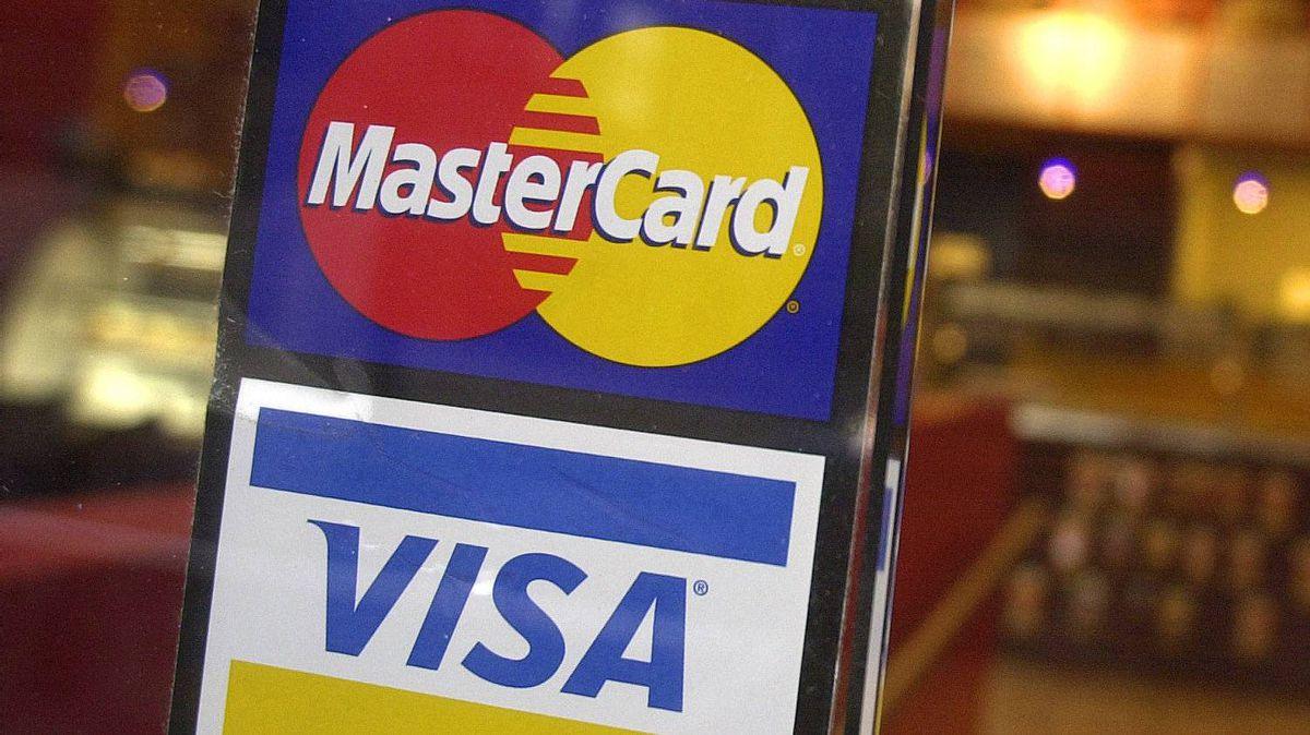 MasterCard and Visa.