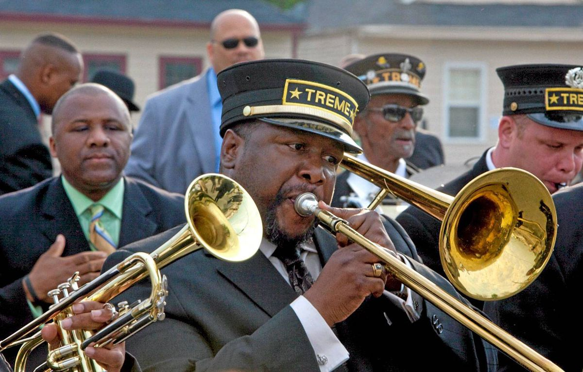 Actor Wendell Pierce is shown in a scene from the HBO drama series Treme. The program follows a diverse group of musicians, chefs, Mardi Gras Indians and bar owners as they try to rebuild their lives, clean-up their homes and get their businesses back on their feet three months after Hurricane Katrina devastates the city of New Orleans.
