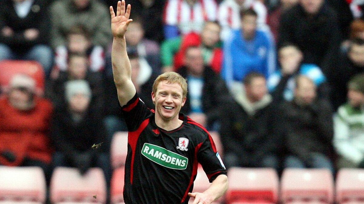 In this Jan. 29, 2012 photo, Barry Robson celebrates a goal with Middlesbrough in Sunderland, England. The Vancouver Whitecaps have signed Scottish international midfielder Barry Robson. Coach Martin Rennie says his roster is almost complete.