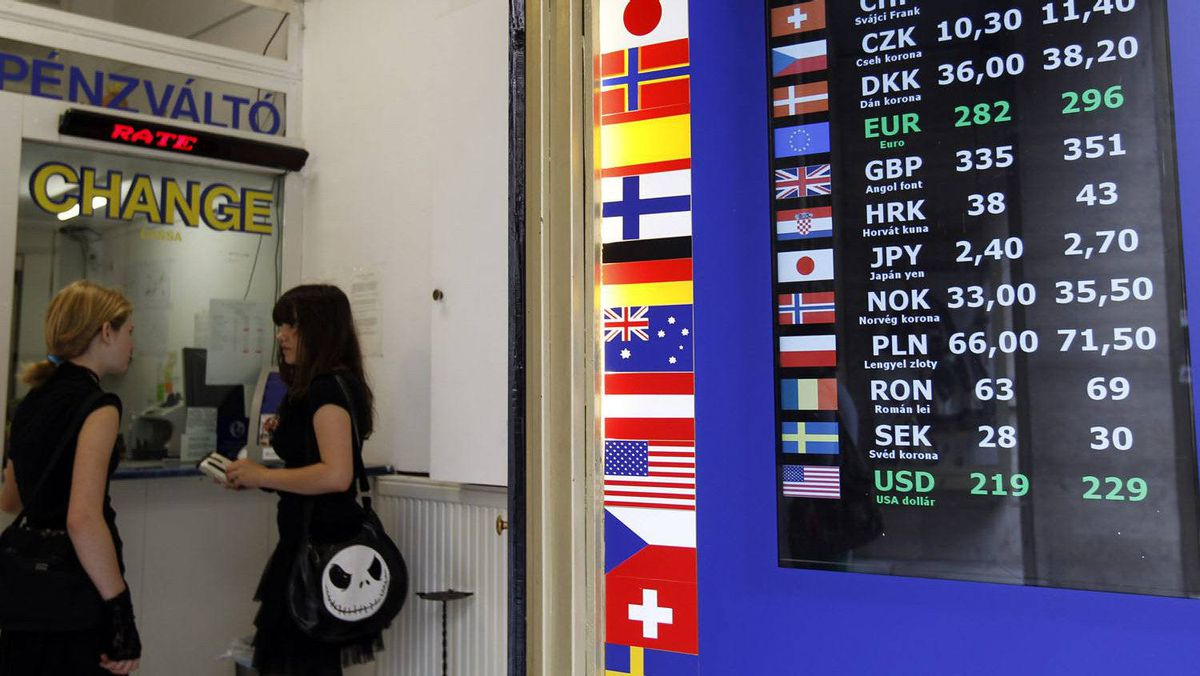 Currency Exchange Rates Are Displayed At A Money Changer In Budapest This 2010 File Photo
