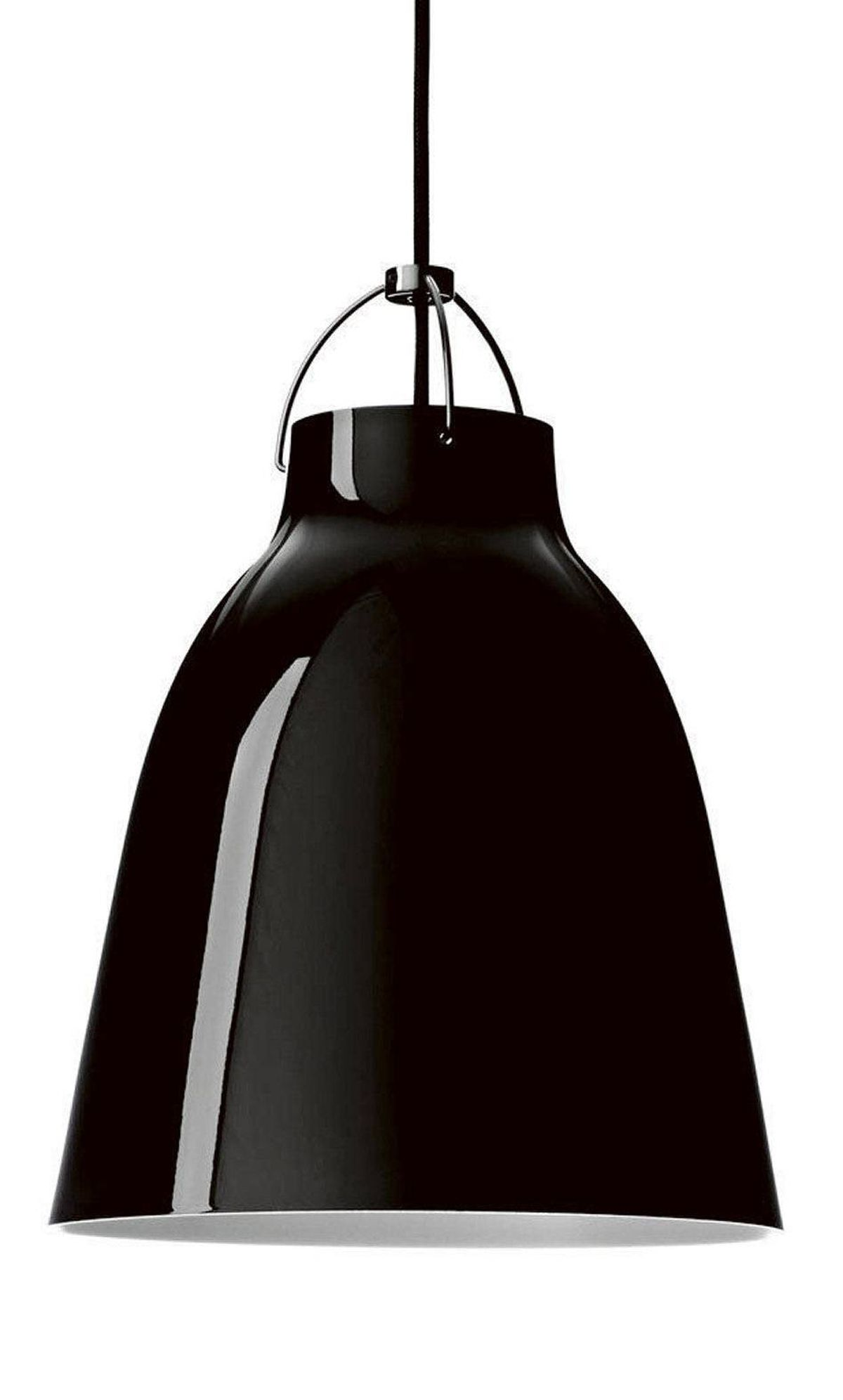 Danish designer Cecilie Manz's high-gloss Caravaggio lamp is made of drawn steel and features an opening at the top that casts light upward, illuminating the cord. $320 to $945 through www.mjolk.ca.