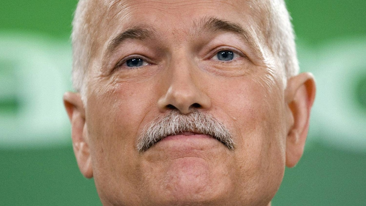 NDP Leader Jack Layton announces his shadow cabinet during a news conference in Ottawa on May 26, 2011.
