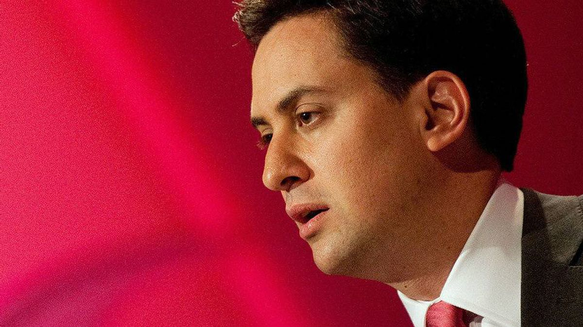 British Labour Leader Ed Miliband addresses delegates at the party's conference in Manchester on Sept. 29, 2010.