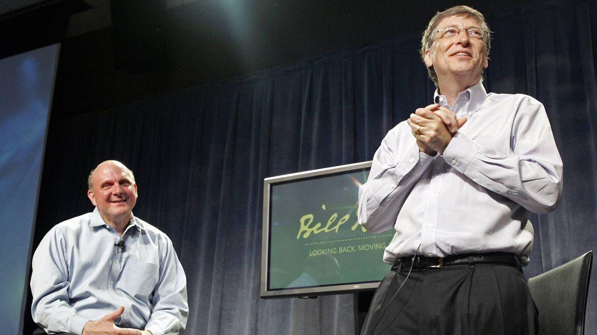 Steve Ballmer, left, and Bill Gates