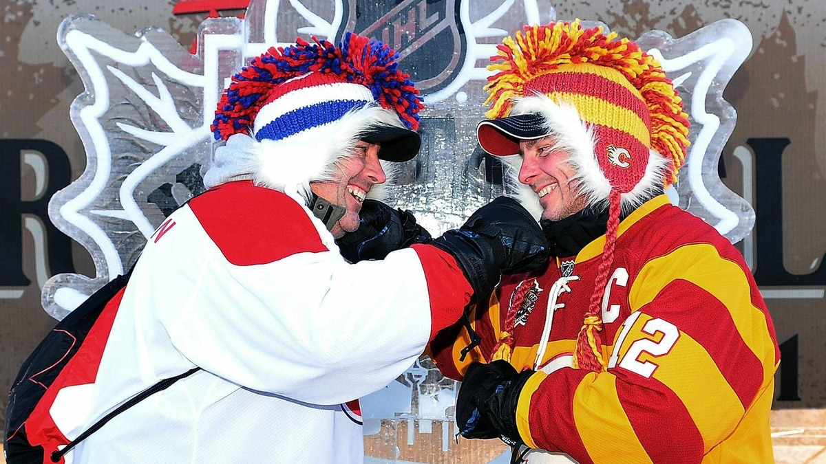 Fans arrive at the 2011 NHL Heritage Classic Spectator Plaza at McMahon Stadium on February 20, 2011 in Calgary, Alberta, Canada. (Photo by Dylan Lynch/Getty Images)